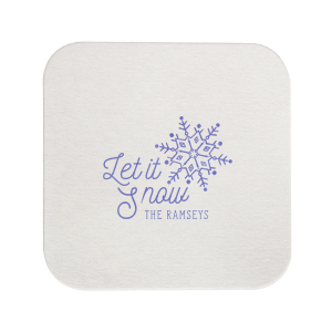 Our personalized Eggshell Square Coaster with Shiny Lavender Foil Color has a Snowflake graphic and is good for use in Delphine themed parties and can be personalized to match your party's exact theme and tempo.