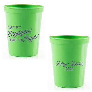 ForYourParty's personalized Lime 16 oz Stadium Cup with Matte Grape Soda Ink will impress guests like no other. Make this party unforgettable.