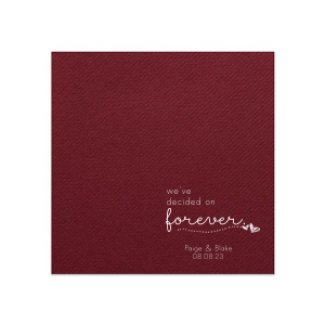 ForYourParty's personalized Merlot Cocktail Napkin with Matte White Foil has a Sketchy Heart Line graphic and is good for use in Frames, Hearts, Wedding themed parties and can be customized to complement every last detail of your party.