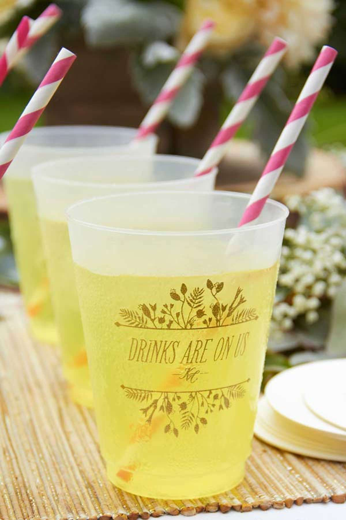 personalized wedding plastic cup