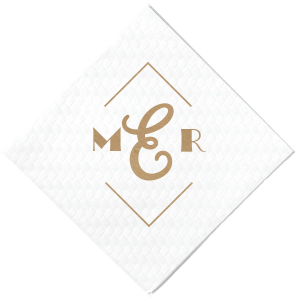 Personalized White-Out of Stock Cocktail Napkin with Shiny Champagne Foil can't be beat. Showcase your style in every detail of your party's theme!