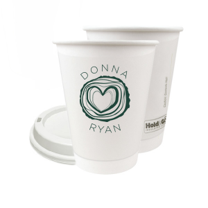 Custom Matte Spruce 12 oz Paper Coffee Cup with Matte Spruce Screen Print has a Tree Heart graphic and is good for use in Hearts themed parties and will add that special attention to detail that cannot be overlooked.