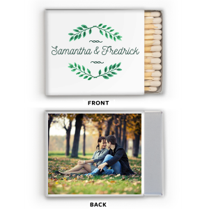 ForYourParty's personalized Photo/Full Color Matchbox with Matte Spruce Print Color can be personalized to match your party's exact theme and tempo.