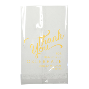 Foryourparty S Personalized Black Party Bag With Shiny 18 Kt Gold Foil Has A Thank You 3