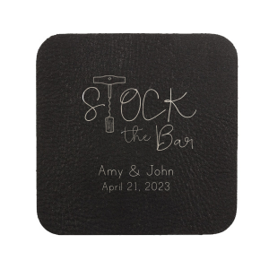 Our custom White Square Coaster with Matte Navy Foil has a Corkscrew graphic and is good for use in Drinks themed parties and will give your party the personalized touch every host desires.