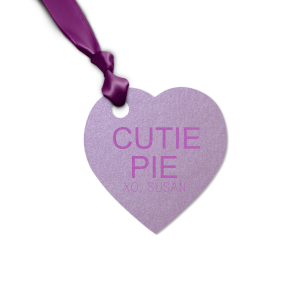 ForYourParty's chic Stardream Lavender Heart Gift Tag with Satin Plum Foil couldn't be more perfect. It's time to show off your impeccable taste.