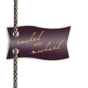 Our beautiful custom Stardream Black Double Point Straw Tag with Shiny 18 Kt Gold Foil will impress guests like no other. Make this party unforgettable.