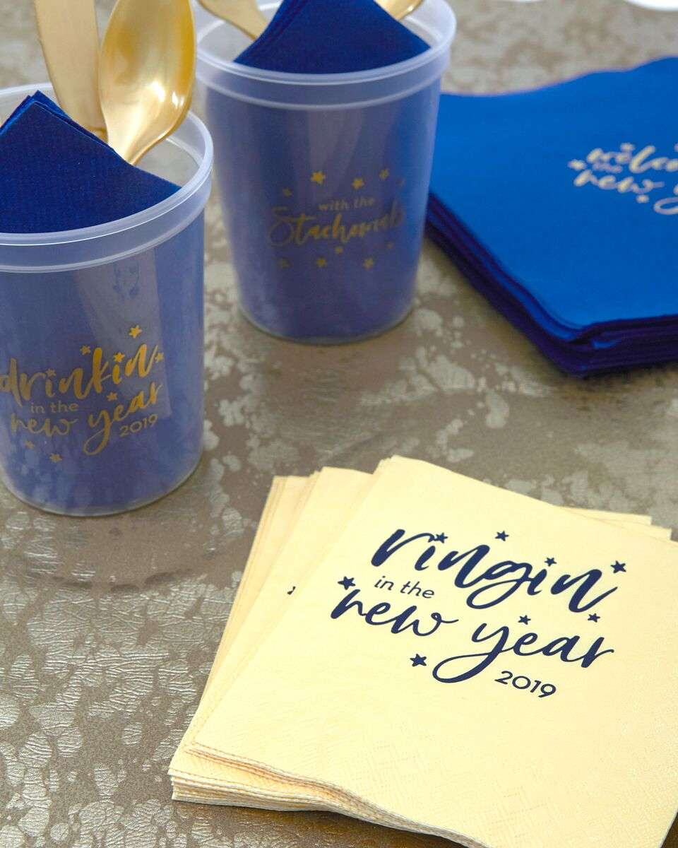personalized New Years party supplies