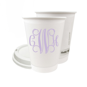 The ever-popular 8 oz Paper Coffee Cup with Lid with Matte Lavender Ink will add that special attention to detail that cannot be overlooked.