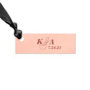 Our personalized Stardream White Heart Gift Tag with Shiny 18 Kt Gold Foil Color will impress guests like no other. Make this party unforgettable.
