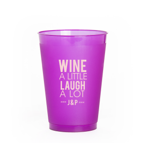 ForYourParty's chic Matte Dark Magenta Ink 10 oz Frost Flex Cup with Matte Dark Magenta Ink Cup Ink Colors will make your guests swoon. Personalize your party's theme today.