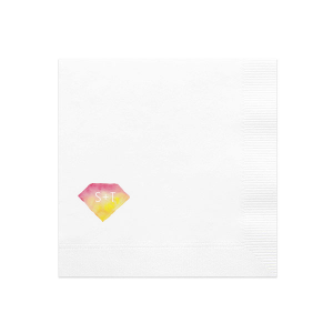 Personalized White Photo/Full Color Cocktail Napkin with Matte White Ink Digital Print Colors can be personalized to match your party's exact theme and tempo.