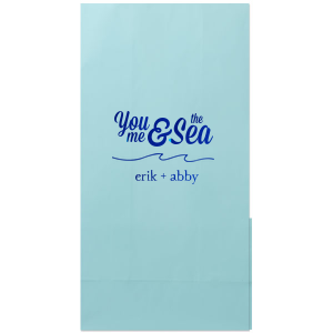 ForYourParty's elegant White Party Bag with Shiny Royal Blue Foil has a Wave Flourish graphic and is good for use in Beach/Nautical, Accents themed parties and will impress guests like no other. Make this party unforgettable.