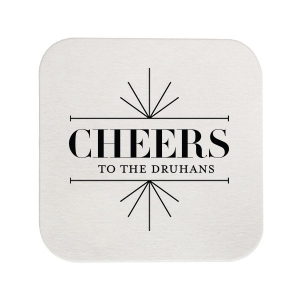 Our beautiful custom Black with Silver back Deco Coaster with Shiny Sterling Silver Foil Color has a Line Frame graphic and is good for use in Frames themed parties and will impress guests like no other. Make this party unforgettable.