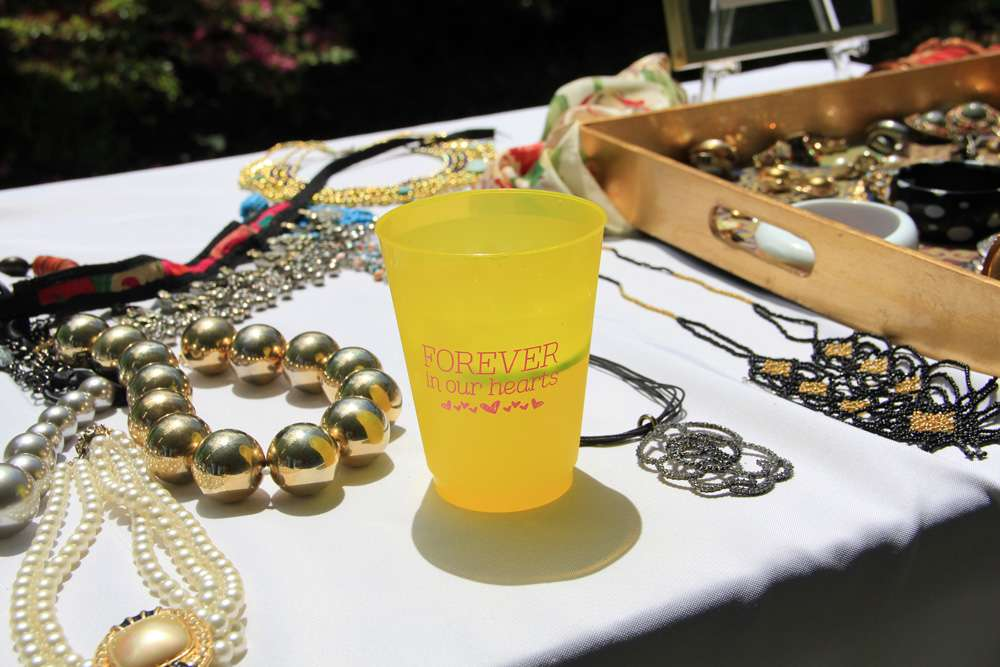 plastic yellow party cups