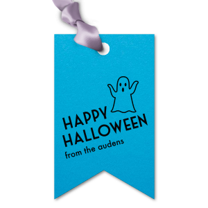 ForYourParty's personalized Poptone Dark Turquoise Diamond Gift Tag with Matte Black Foil has a Ghost graphic and is good for use in Halloween themed parties and couldn't be more perfect. It's time to show off your impeccable taste.