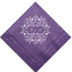 Our personalized Lavender Luncheon Napkin with Matte White Foil has a Rose Frame graphic and is good for use in Frames, Floral and Outdoors themed parties and will make your guests swoon. Personalize your party's theme today.