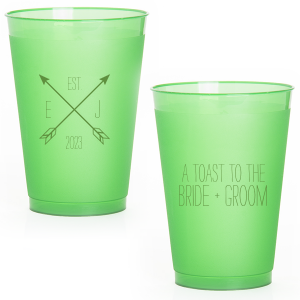The ever-popular Matte Moss Green Ink 12 oz Frost Flex Cup with Matte Moss Green Ink Screen Print has a Cross Arrows 2 graphic and is good for use in Accents, Frames themed parties and can't be beat. Showcase your style in every detail of your party's theme!
