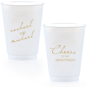 Our custom Gold Ink 14 oz Frost Flex Cup with Gold Ink Cup Ink Colors can't be beat. Showcase your style in every detail of your party's theme!
