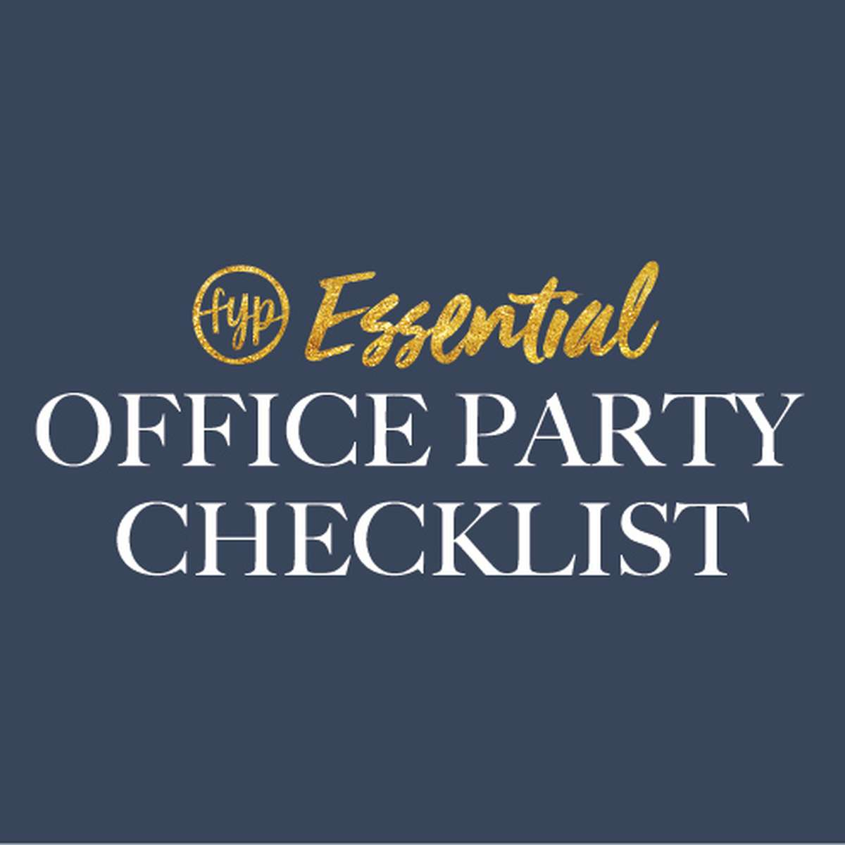 Office Party Planning Checklist