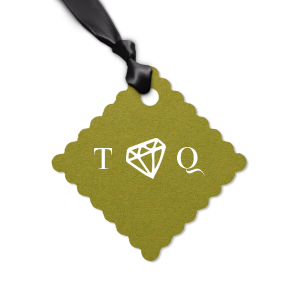 Diamond Initials Tag