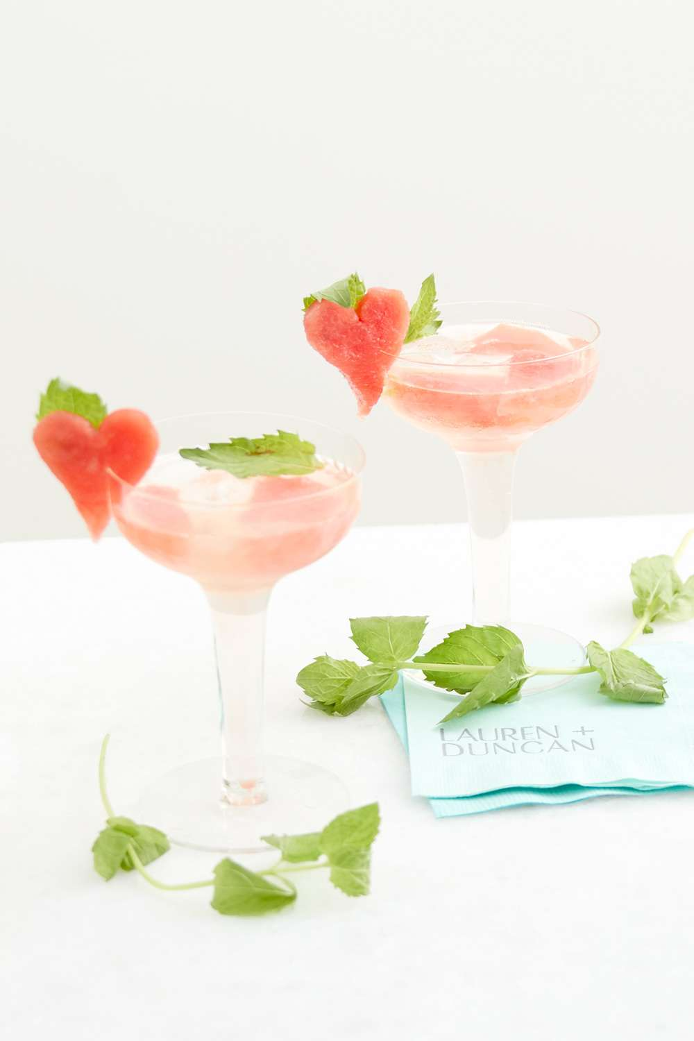 Watermelon Mint cocktail recipe with prosecco