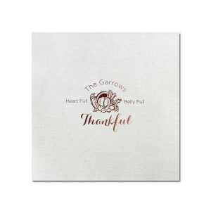 Heart Full Thankful Napkin