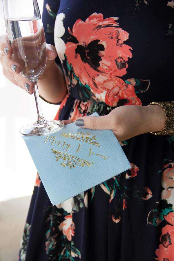 custom line like cocktail napkins