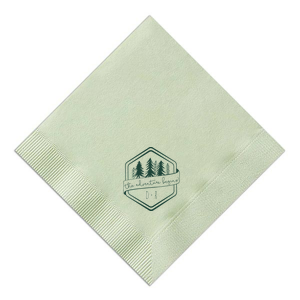 Adventure Begins Trees Napkin