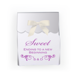 Personalized Satin Plum Cake Box with Satin Plum Foil Color has a Decorative Flourish graphic and is good for use in Accents themed parties and will look fabulous with your unique touch. Your guests will agree!