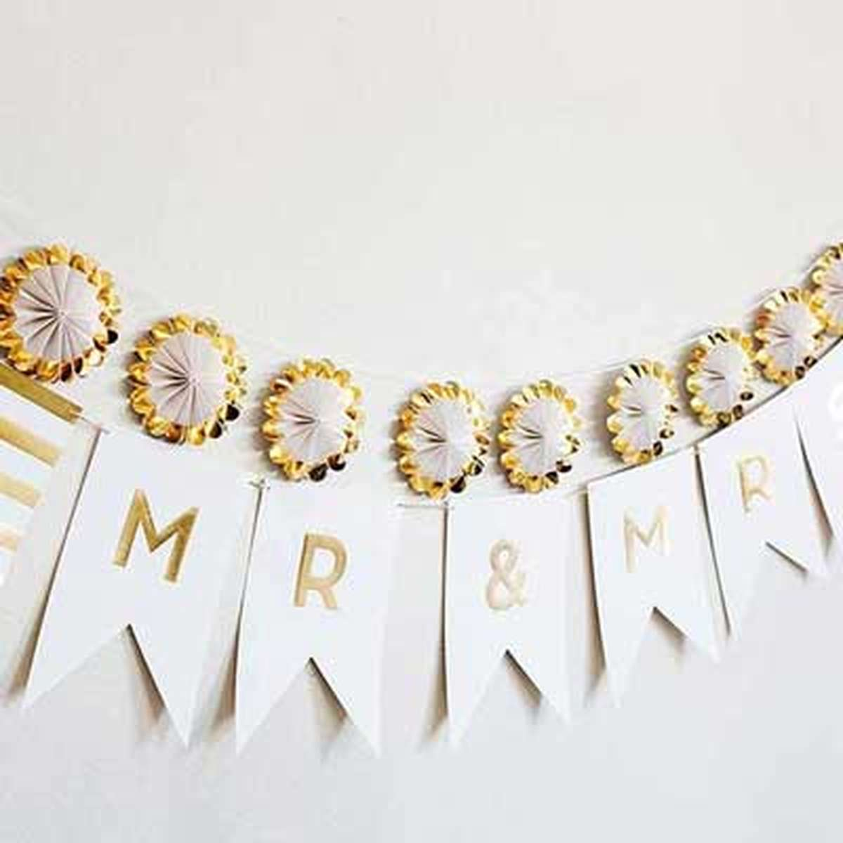 Fancy Mr. & Mrs. Letter Banner