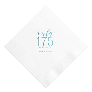Our beautiful custom Marble Sand Cocktail Napkin with Shiny Turquoise Foil will impress guests like no other. Make this party unforgettable.