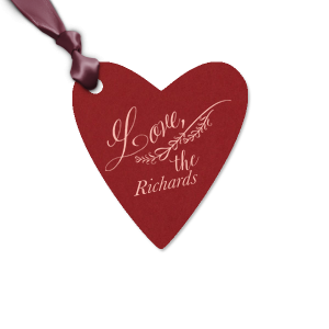 Our custom Natural Merlot Large Heart Gift Tag with Matte Pastel Pink Foil has a Love Hearts 2 graphic and is good for use in Wedding, Anniversary, Birthday themed parties and will add that special attention to detail that cannot be overlooked.