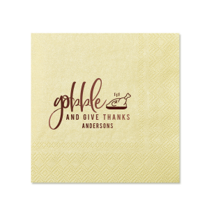 Gobble and Give Thanks Napkin
