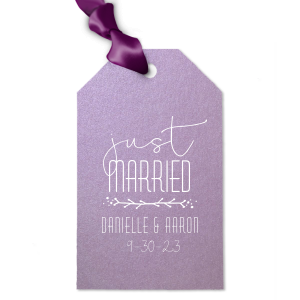 Just Married Twig Tag