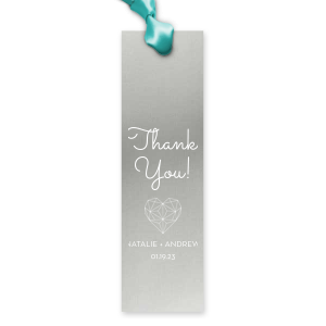 ForYourParty's personalized Metallic Sterling Silver Gloss Party Pocket with Matte White Foil has a Geo Heart graphic and is good for use in Hearts, Geometric, Wedding themed parties and can't be beat. Showcase your style in every detail of your party's theme!