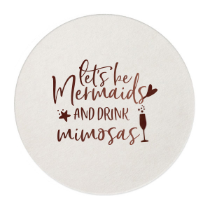 Mermaids And Mimosas Coaster