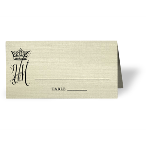 Royal Couple Place Card