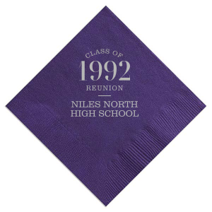 Our personalized Amethyst Cocktail Napkin with Satin Sterling Silver Foil Color will add that special attention to detail that cannot be overlooked.