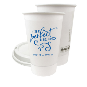 ForYourParty's chic Matte Royal Blue Ink 12 oz Paper Coffee Cup with Matte Royal Blue Ink Screen Print will add that special attention to detail that cannot be overlooked.
