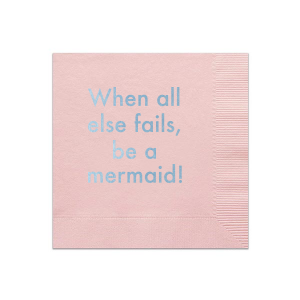 Personalized Ballet Pink Cocktail Napkin with Shiny Sky Blue Foil will look fabulous with your unique touch. Your guests will agree!