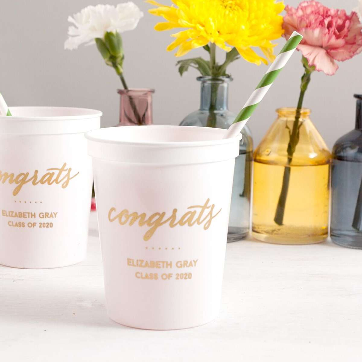 personalized stadium cups for your graduation party