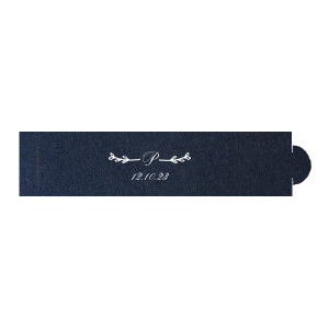 ForYourParty's chic Stardream Navy Napkin Ring with Matte White Foil Color has a Leaf Single Initial graphic and is good for use in Wedding and Anniversary themed parties and will impress guests like no other. Make this party unforgettable.