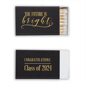 Personalized Natural Black Classic Matchbox with Shiny 18 Kt Gold Foil has a Fancy Flourish graphic and is good for use in Accents themed parties and can be personalized to match your party's exact theme and tempo.