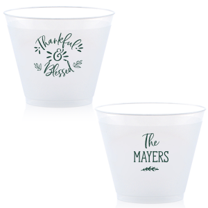 Custom Matte Spruce 9 oz Frost Flex Cup with Matte Spruce Cup Ink Colors are a must-have for your next event—whatever the celebration!