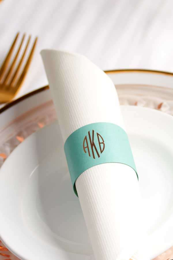 custom napkin ring