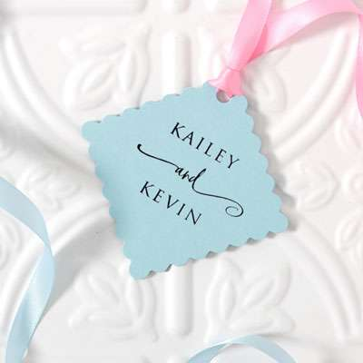 Large Scalloped Gift Tag