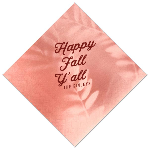 Our beautiful custom Leaf Rose Cocktail Napkin with Matte Merlot Foil will give your party the personalized touch every host desires.