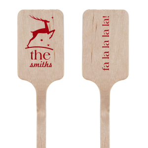 Our beautiful custom Shiny Convertible Red Rectangle Stir Stick with Shiny Convertible Red Foil has a Stag graphic and is good for use in Delphine themed parties and will make your guests swoon. Personalize your party's theme today.