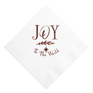 Our beautiful custom White Cocktail Napkin with Shiny Merlot Foil has a North Star graphic and is good for use in Christmas, Stars themed parties and are a must-have for your next event—whatever the celebration!